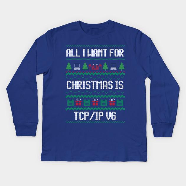 dcf7e336 Funny Ugly Christmas Computer Programmer T-Shirt for Geek Kids Long Sleeve T -Shirt