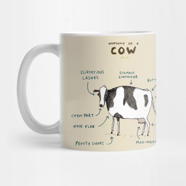 Anatomy of a Cow - Bovine - Mug | TeePublic