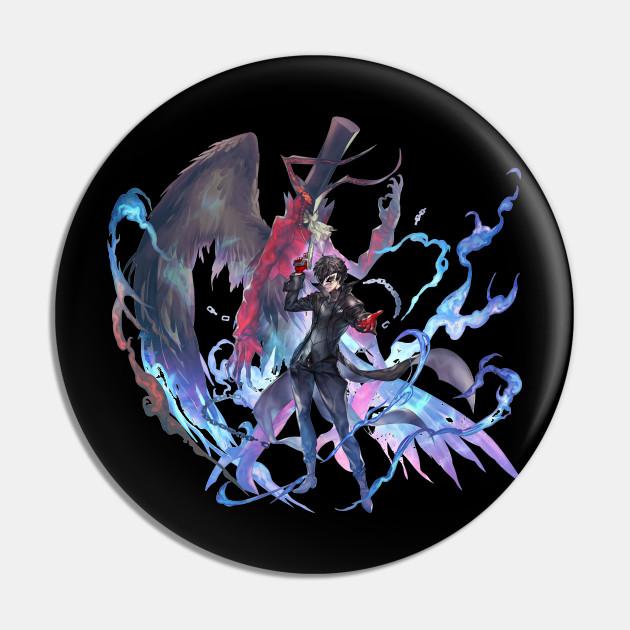 Persona 5 Royal Joker Arsene Persona 5 Pin Teepublic Persona 5 arsene & akira print. persona 5 royal joker arsene