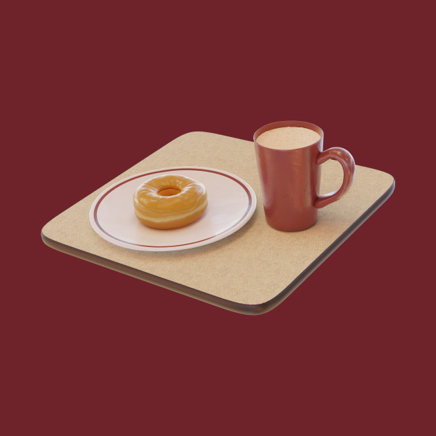 Maple donut and hot chocolate