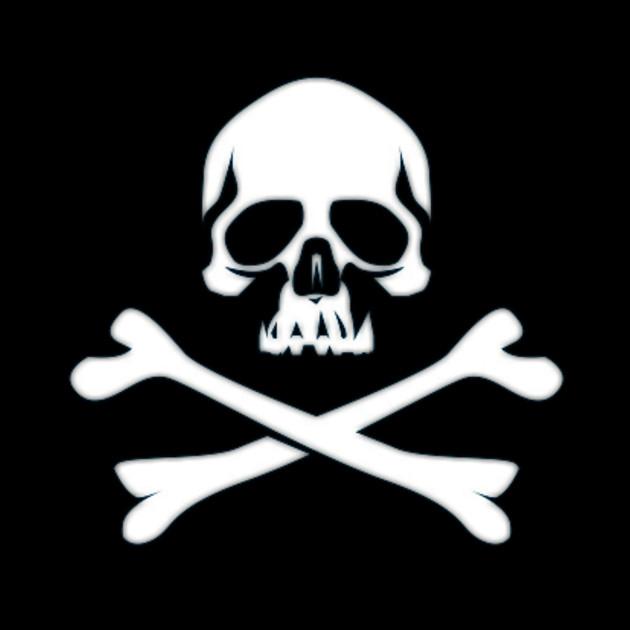 Cool black skull