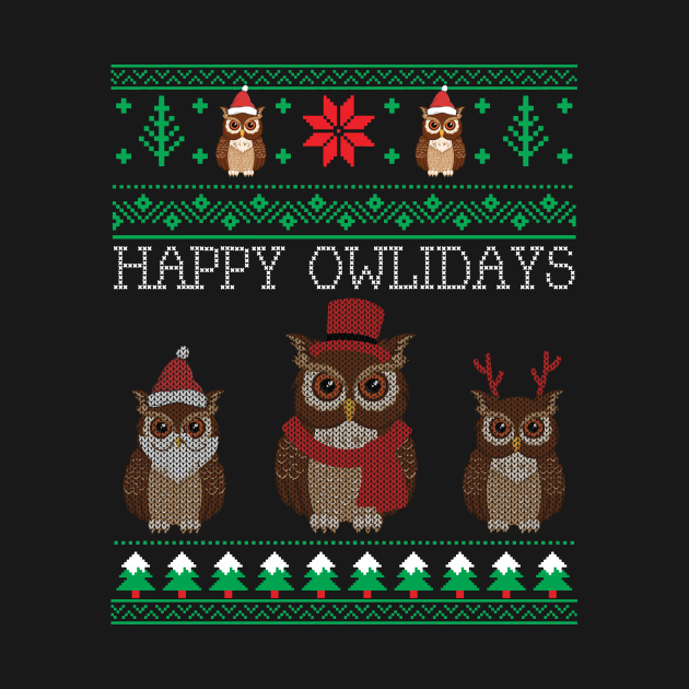 Funny Cute Owl Lovers Owl Ugly Christmas Sweaters