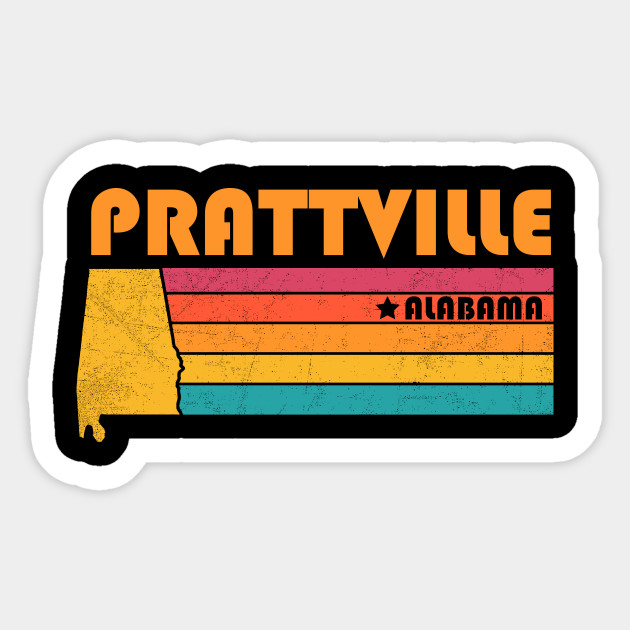 Prattville Alabama T-Shirt Vintage City Retro Souvenir US State Silhouette  Lover Gift With Star