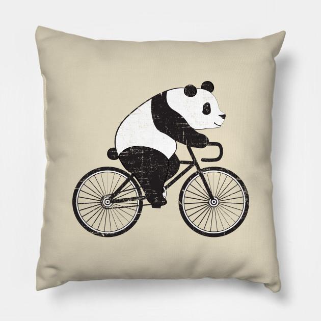 Panda Riding A Bicycle Cute Cyclist Illustration Design