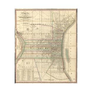 Historical Philadelphia Map TShirts TeePublic - Historic philadelphia map