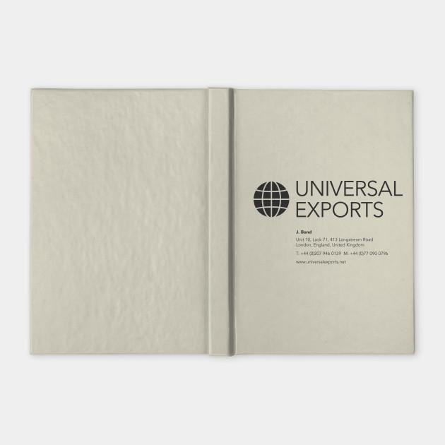 J bond business card universal exports james bond notebook 1820143 1 notebook bound ruled colourmoves Gallery