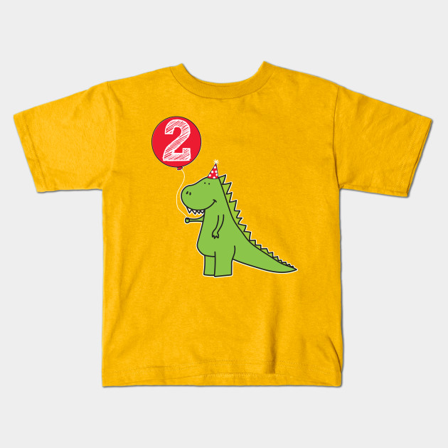 2nd Birthday Dinosaur Shirt For Toddlers Kids T