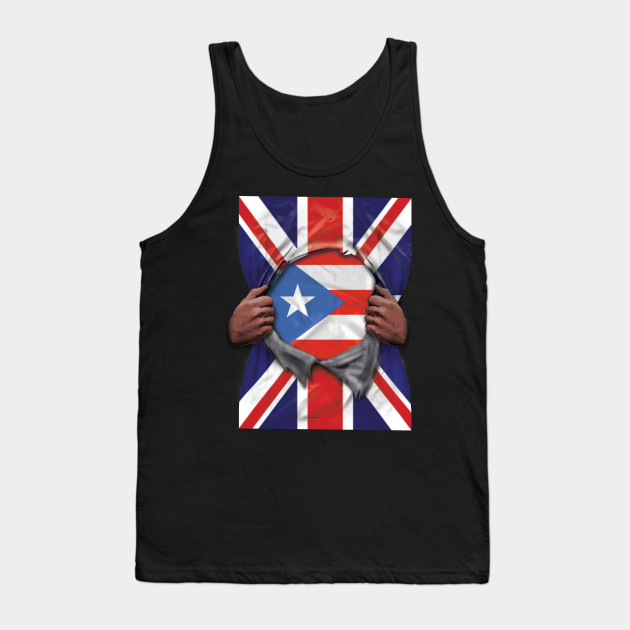 Puerto Rico Rican flag Tee tank top Sleeveless T-shirt