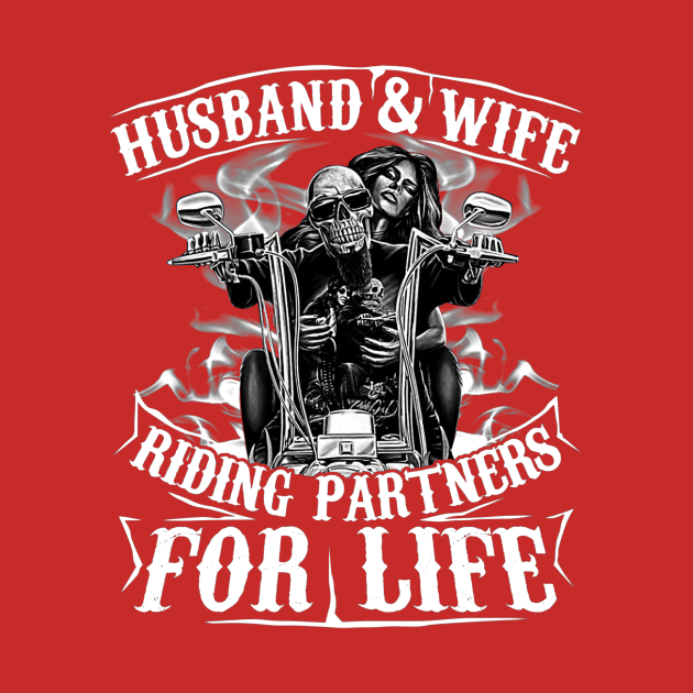 Husband and Wife Riding Partners For Life Matching Couple