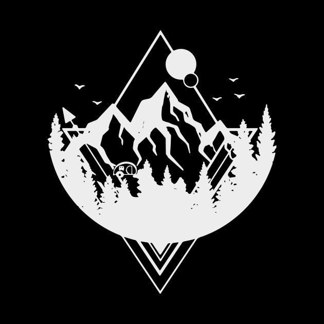 nomad earth design logo white