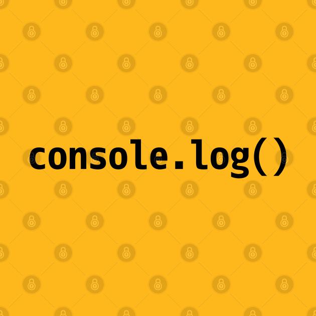 console.log() - JavaScript/Web Developer Black Text Design