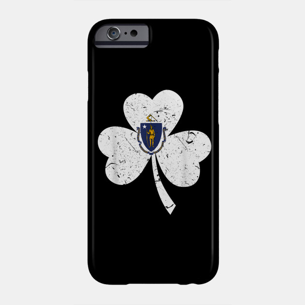 Massachusetts Irish Shamrock St Patricks Day Men Woman Shirt Phone Case