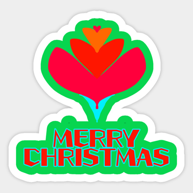 Funny Xmas Flower Gift Cool Merry Christmas Design At Summer