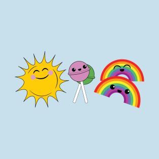 Sunshine, lollipops and rainbows t-shirts