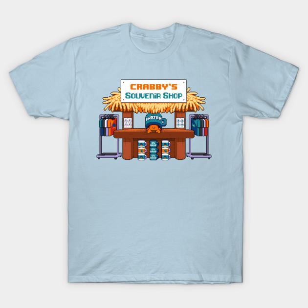 Crabby s Souvenir Shop! - Crabby Pixel Art - T-Shirt  f0ef9131d