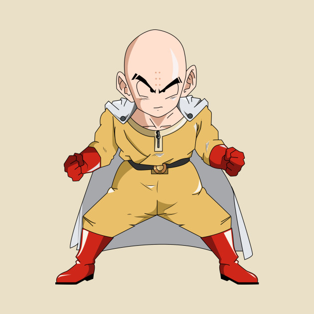 Krillin one punch man krillin t shirt teepublic