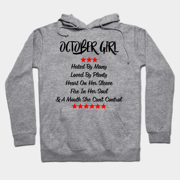 e27f2a28f51 October Girl Heart On Her Sleeve Fire In Her Soul T-shirt - Best ...