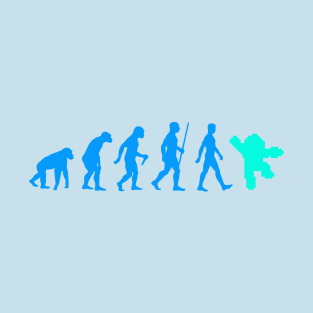 Evolution of Megaman t-shirts