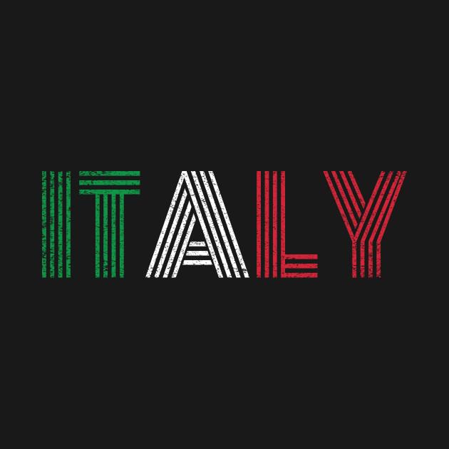 Italia Italian Flag Pride Country Vintage Gift