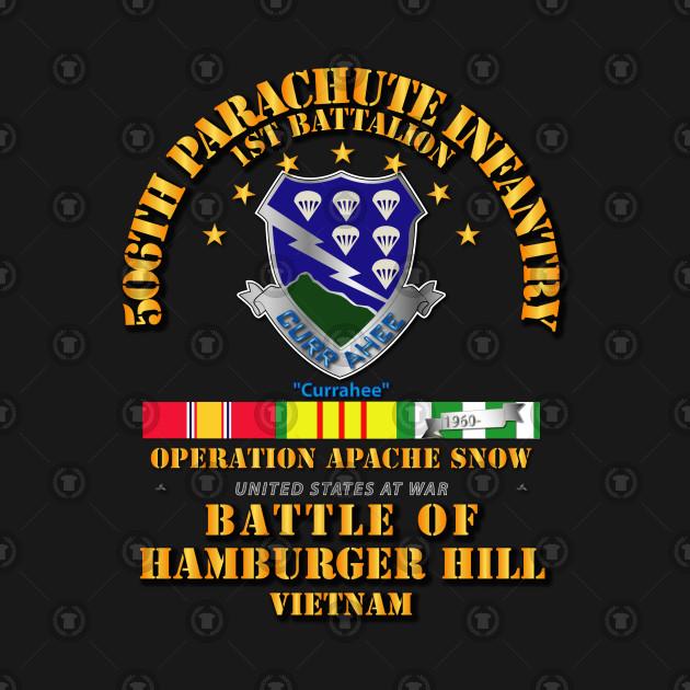 Hamburger Hill - 1st Bn 506th PIR w Svc Ribbons