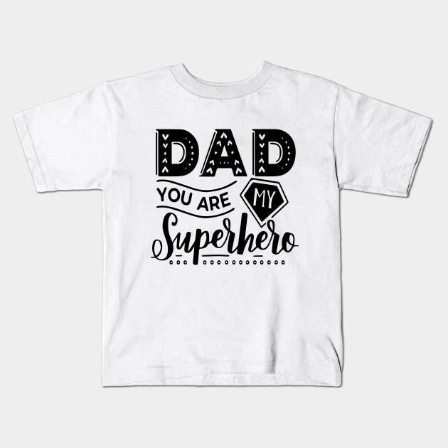 54da5f43 Super Dad T-Shirt Funny Superhero Father's Day Tee Shirt Kids T-Shirt