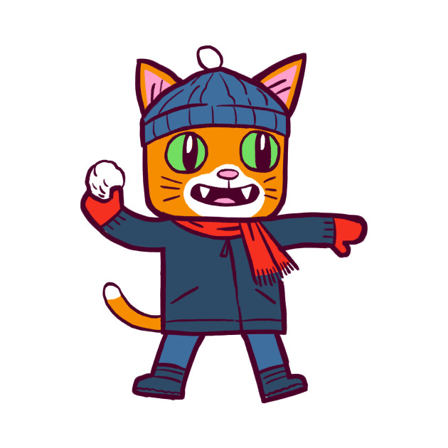 Winter Gato Snowball