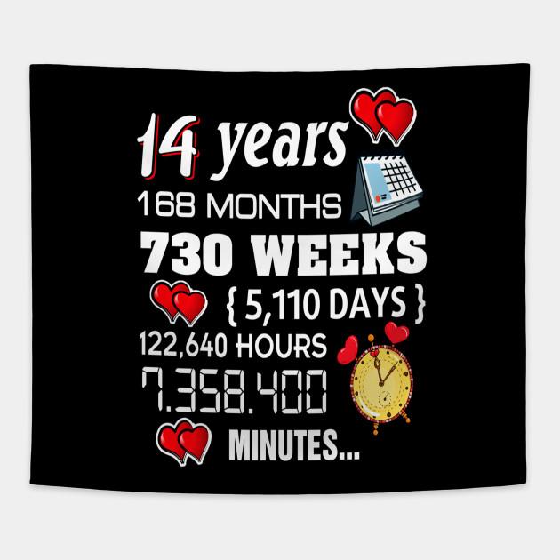 14 Wedding Anniversary Gift Ideas: 14th Wedding Anniversary Shirt 14 Years Anniversary Gift