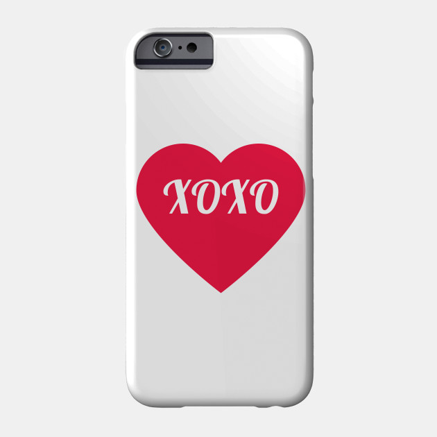 Valentine S Day Xoxo Heart Valentines Day Phone Case Teepublic