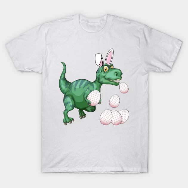 c61f3d97 Dinosaur T-Rex Bunny Funny Easter Egg - Easter Egg Hunt - T-Shirt ...
