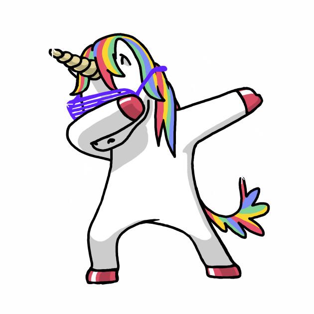 Dabbing Unicorn Shirt Dab Hip Hop Funny Magic Unicorn