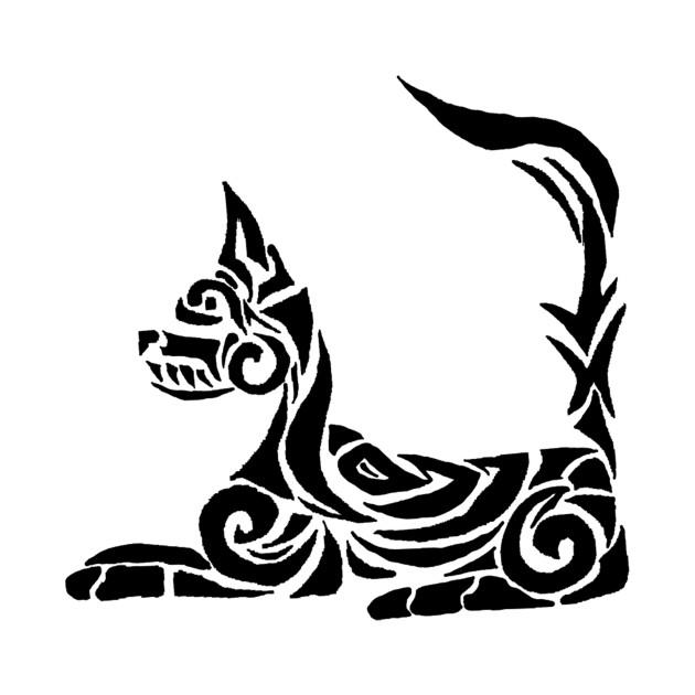 Tribal Designs For Shirts | Tribal Design Cat Tribal Design T Shirt Teepublic