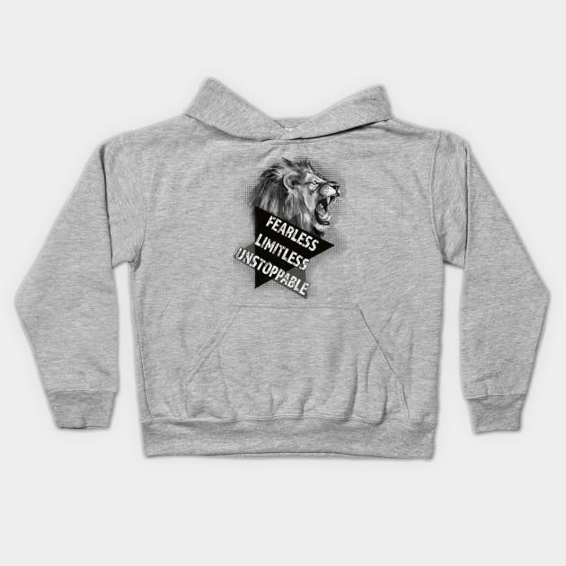 ff5f01ed Fierce Lion - Motivational Tshirt by odditees