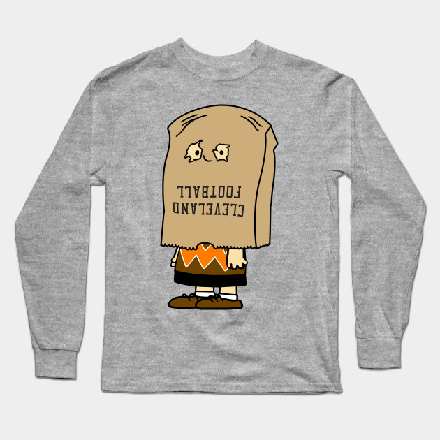 99ada24e207 Cleveland Bag of Shame - Cleveland Browns - Long Sleeve T-Shirt ...