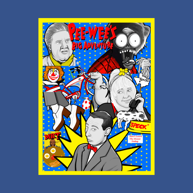 Pee Wee's Big Adventure 30th anniversy collage