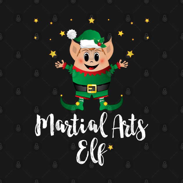 Martial Arts Elf Christmas Elves Xmas Matching Family Group