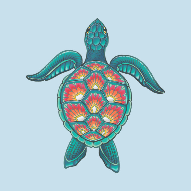 Mandala Turtle - Animals - T-Shirt : TeePublic