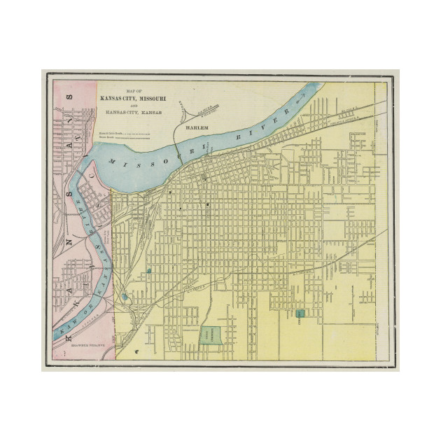 Vintage Map of Kansas City Missouri (1901) - Kansas City Map - T ...