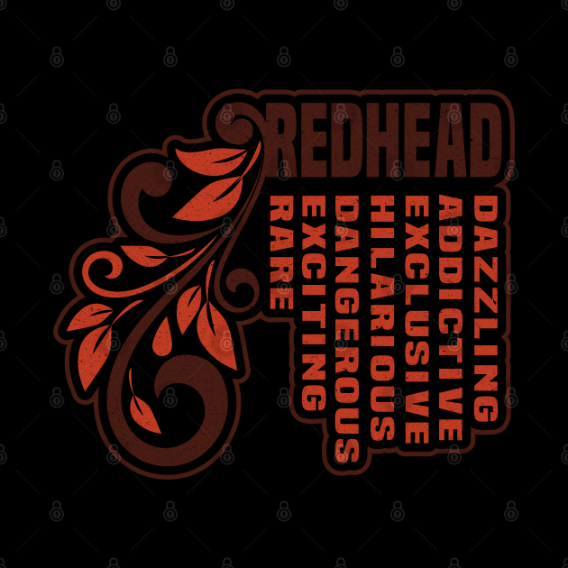 Awesome Red hair Sticker - Lovely Gift idea for Female Redhead
