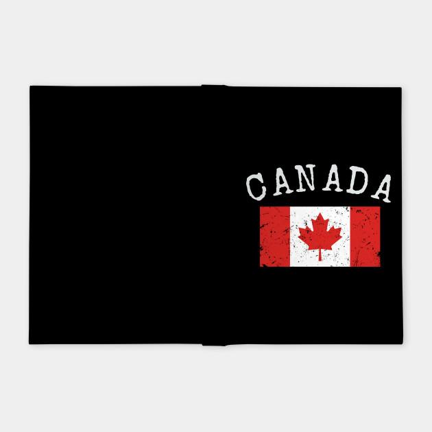 Flag of Canada - Retro Distressed Vintage Canadian Flag