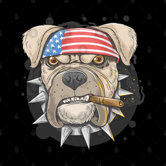 Pit bull american punk head
