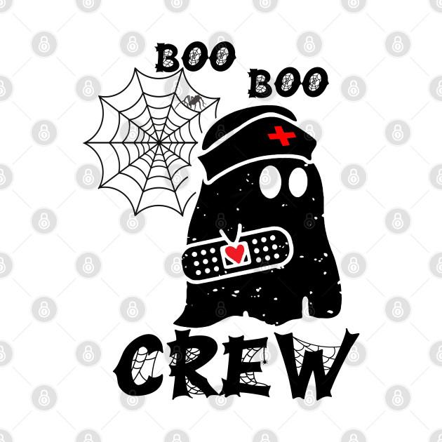 Boo Boo Crew Nurse Ghost Funny Halloween Costume Gift idea