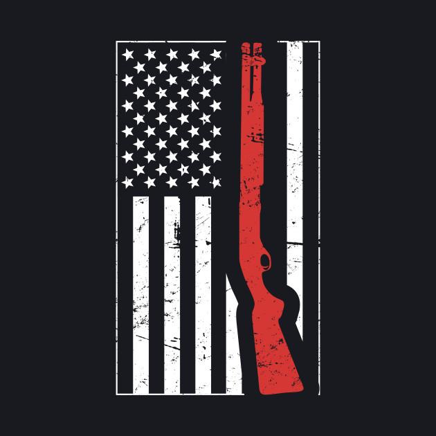 American Flag & Shotgun - Skeet Shooting