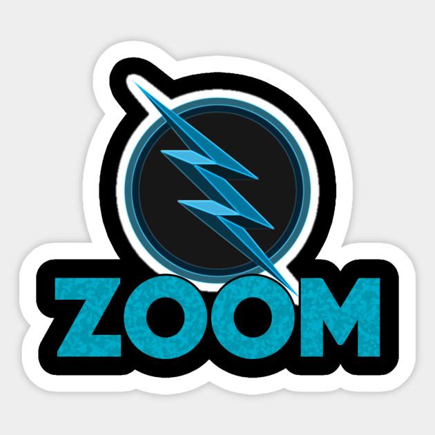 zoom cartoon logo flash sticker teepublic