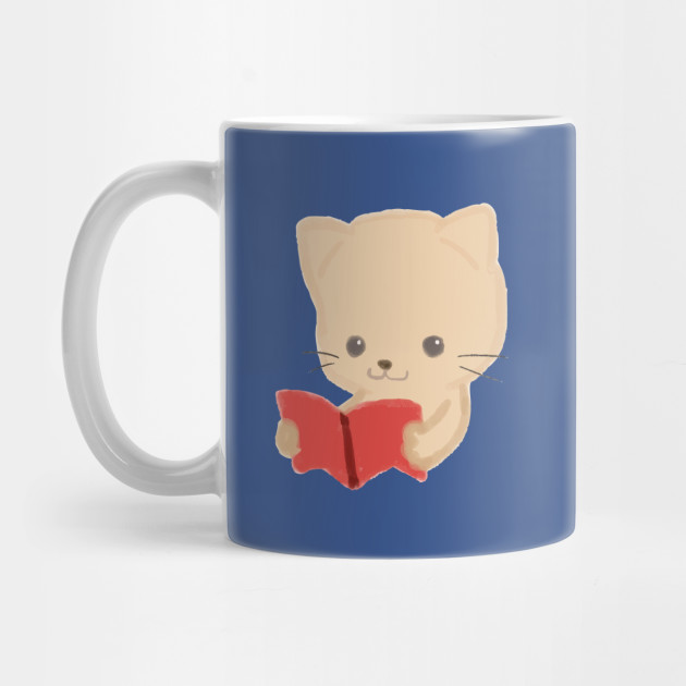 Cute Cat Reading Book Funny Emoji Bookworm Gift By Interdesign