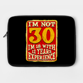 30th Birthday Gift For Men And Women Laptop Case