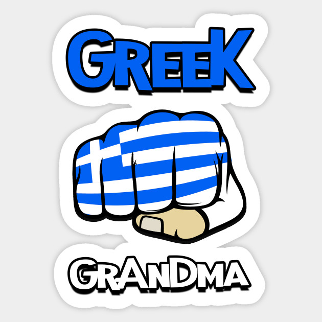 Greek Grandma Cool Greek Flag Greek Sticker Teepublic