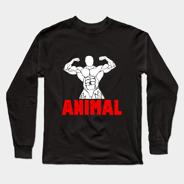 9f941278aecf Bodybuilding Workout ANIMAL Muscle Gym Fitness T-shirt Fashion for men  women kids Cute Long Sleeve T-Shirt