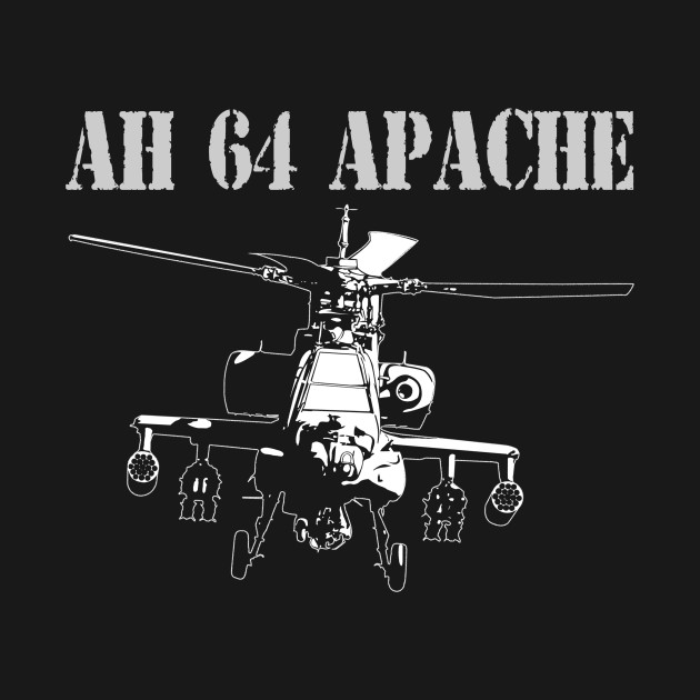 apache 160 coloring pages | AH 64 Apache - Military - T-Shirt | TeePublic
