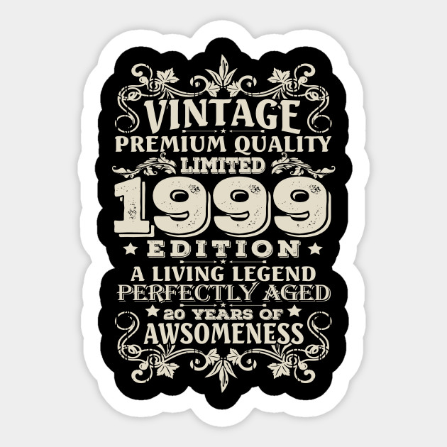 Vintage Made In 1999 20 Years Old Shirt 20th Birthday Gift