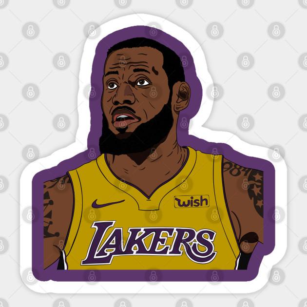 Lebron James Lakers Fan Artwork Sticker Teepublic